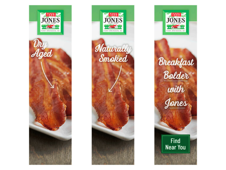 Jones Dairy Farm 2020 display ad examples